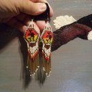 Pow Wow Beaded Earrings Item W230