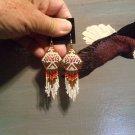 Powwow Beaded Earrings Item W245