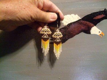 Powwow Beaded Earrings Item W250