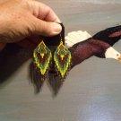 Powwow Beaded Earrings Item W255