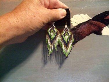 Powwow Beaded Earrings Item W270