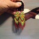 Pow Wow Turtle Regalia Earrings Item W275