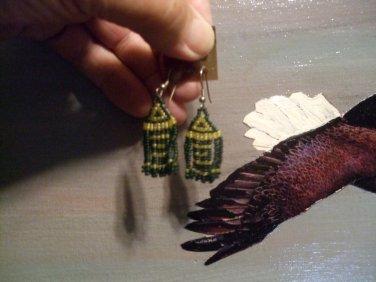 Small Arrow Drop Beaded Earrings T105