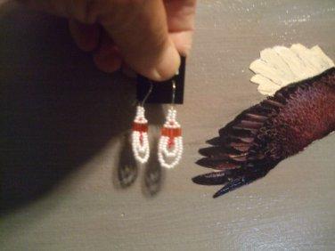 Beaded Loop Earrings T185