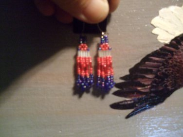 Pow Wow Beaded Earrings T195