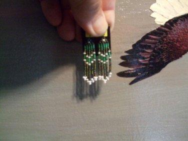 Powwow Post Beaded Earrings ItemT205