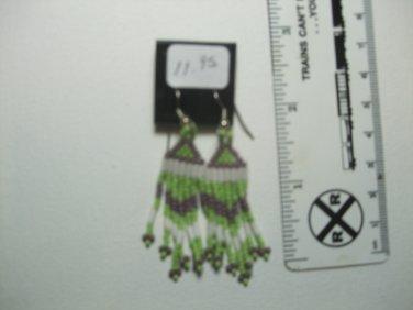 Powwow Seed Bead Earrings Item T170