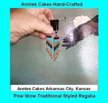 Native American Fire Circle Beaded Earrings