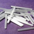Twisted Bugle Bead  30mm Chalk White Opaque Iris