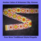 VINTAGE NATIVE AMERICAN GLASS BEADED BELT
