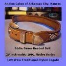 Eddie Bauer Beaded Pow Wow Belt 1991