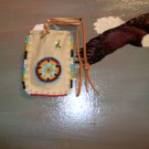 Beaded Pow Wow Medicine Bag Item MB350