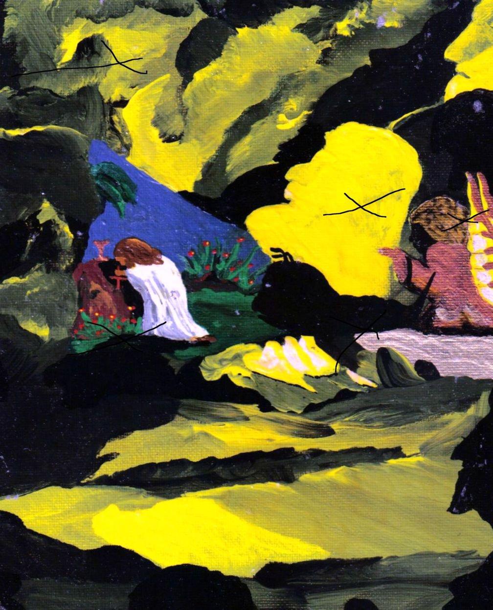 Jesus in the Garden By Robert Willam Vincent