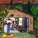 The Garage Original Water Color by RWV