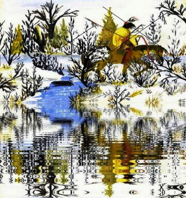 Winter Warrior Reflection Canvas Print