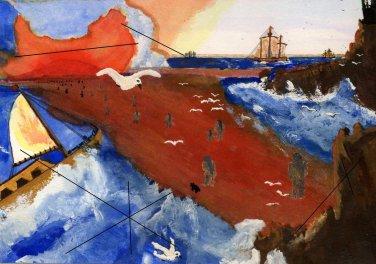 Native Crossing Canvas Print