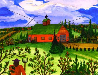 Farmers Pitchfork on Canvas Print
