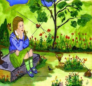 Girl Thinking on Canvas Print