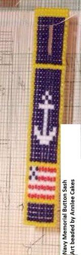 Navy Memory Button Sash