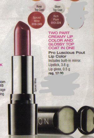 AVON PRO LUSCIOUS POUT LIP COLOR AVON LIPSTICK SPICED WINE & RICH PLUM