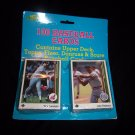 Classic 100 Assorted Baseball Cards (different brands)