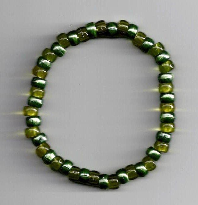 Two tone green Bracelet