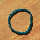 Blue Seed Bead Anklet