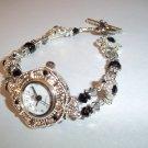 Handmade Beaded Watch With Swarovski Crystal Beads