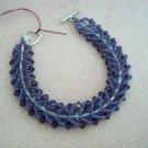 Purple Bead-Weaved Bracelet