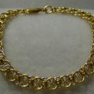 Gold With Silver Flat Chainmaile Bracelet