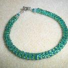 """""""Funky Green"""" Beadweaved Bracelets"""