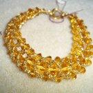 Tan Bead-Weaved Bracelet