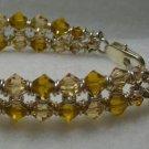 Tan & Silver Chainmaile Bracelet