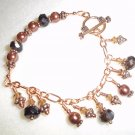 Handmade Copper Bracelet with Charms