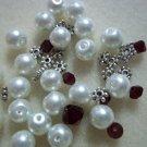 Beaded Bracelet Kit - Glass Pearl & Burgandy