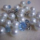 Beaded Bracelet Kit - Glass Pearl & Blue