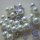 Beaded Bracelet Kit - Glass Pearls & Purple