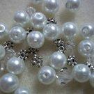 Beaded Bracelet Kit - Glass Pearls & Crystal