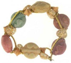 Multi-color acrylic bead bracelet
