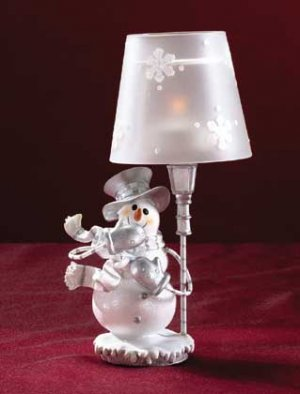 Snowman Candle Holder Tea Light Lamp