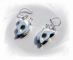 Artisian Handcrafted Designer Sterling Silver Butterfly Dangle Earrings