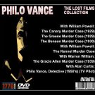 THE PHILO VANCE LOST FILMS COLLECTION - 5 DVD - 5 MOVIES & TV PILOT