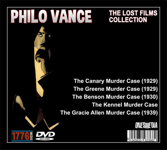 THE PHILO VANCE LOST FILMS COLLECTION - 5 DVD-R - 5 MOVIES & TV PILOT
