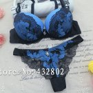Sexy Lace Push Up Bra Panty sets ROYAL BLUE Romantic Intimate Women's Underwear