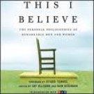 This I Believe Audiobook CD