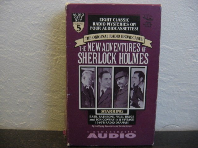 Sherlock Holmes The New Adventures of Sherlock Holmes Radio Broadcast Audiobook Cassette