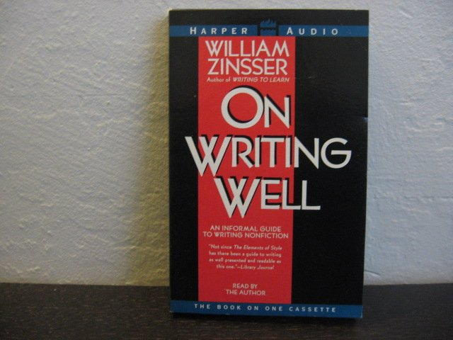 William Zinsser On Writing Well Audiobook Cassette
