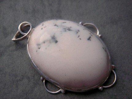 Botswana Dendritic Agate Gem .925 Silver Pendant