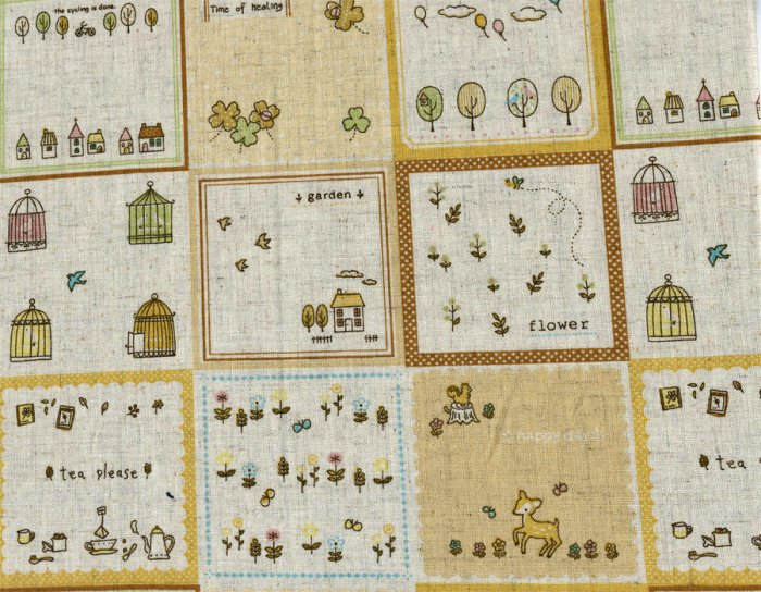 Happy Day Linen Collection - Yellow Patch Fat Quarter