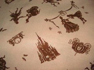 Cinderella on Brown - Fabric Fat Quarter